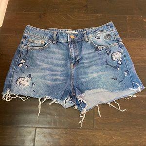 Zara basic z1975 denim shorts size 8